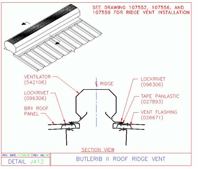 Butlerib Ii Ridge Vent Butlerib Ii Roof System