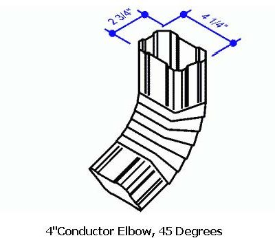4 Conductor Elbow, 45 Degrees
