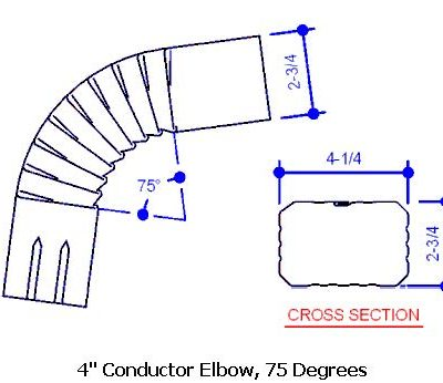 4 Conductor Elbow, 75 Degrees