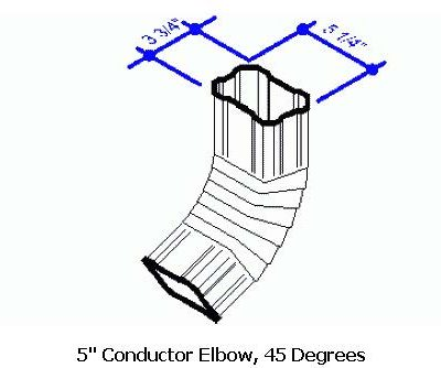5 Conductor Elbow, 45 Degrees