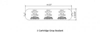 Cartridge Gray Sealant