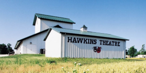 Hswkins Theatre pre-engineered building