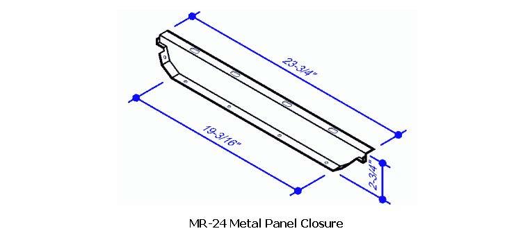 Mr 24 metal closure mr 24 roof system for Butler building details