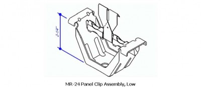 MR-24 Panel Clip Assembly, Low