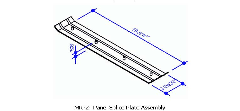 Mr 24 Panel Splice Plate Assembly Mr 24 Roof System