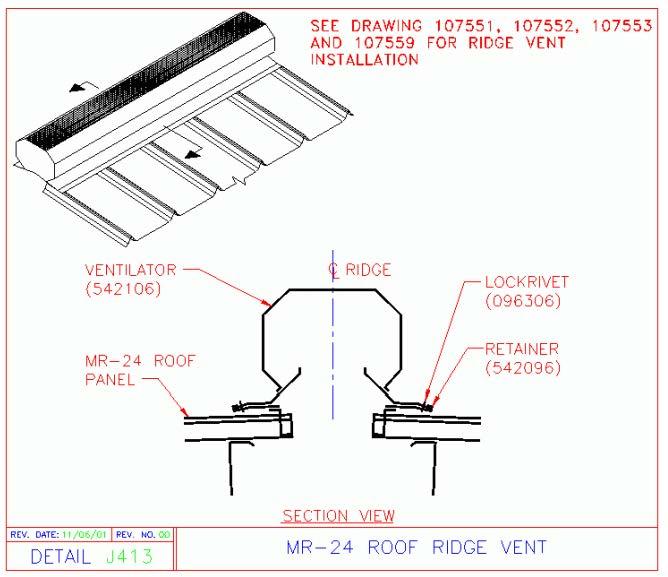 Mr 24 Ridge Vent Mr 24 Roof System