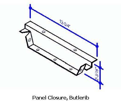Metal Panel Closure, Butlerib